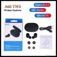 Earphone TWS A6S Headphone Bluetooth 5.0 True Wireless Bluetooth Headset with Mic for iPhone Xiaomi Huawei Samsung Smart Phones