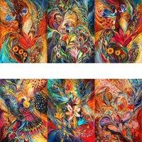 Målningar amtmbs phoenix bilder målning med siffror akryl teckning på duk olja färgglada för vuxna hem dekoration gåva