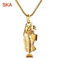 Brand Design Black Men's Necklace Fashion Jewelry Pendant Necklaces For Men TN0023 Chains