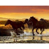 Dipinti Gatyztory Frame Cavallo Gruppo FAI DA TE Pittura di numeri Animale Animale Olio Canvas da colorare Casa moderna Arte