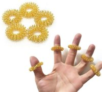 Großhandel Massage Steine Felsen Finger Massager Spiky Ring Gesundheitswesen Home Verwendung Akupressur Werkzeuge Relax Stress Reduzierer NHE5881