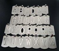 Geschenk Edelstahl 26 Englisch Alphabet Name Zeichen Halskette Anfangsbuchstaben Symbol Abnehmbare Doppelschicht Text Schmuck Anhänger Halsketten