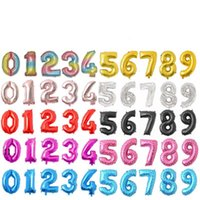 NEW32 Inches Number Balloon Birthday Party Decorations Color Aluminum Foil Balloons Wedding Home Banquet Supplies EWD1732