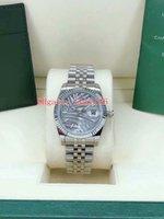 Relojes de pulsera de moda Relojes 126233 126231 36mm Silver Palm Hoja de hoja de acero inoxidable Pulsera Jubileo 2813 Movimiento Menor automático MENS UNISEX WATCH