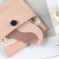 Мини милые маленькие щетки щетки практичные сандаловые расчески с дизайнером подарочной коробки для женщин девочек праздник подарки DHD7726