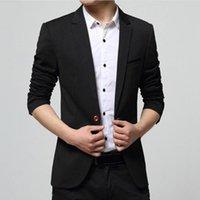 Men's Suits & Blazers Coat Men Slim Fit Office Blazer Jacket Fashion Solid Mens Suit Cardigan Casual Turn-down Collar Man Fomal