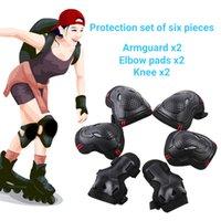 6шт / набор кататься на коньках защитные шестерни скейтборд со льдом ролика локоть колодки запястья велосипедные езды колена защитник для детей мужчин женщин