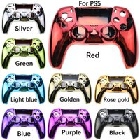 Game Controllers & Joysticks JCD 1Pcs Replacement Shell DIY Housing Case Accessory For PS5 Controller Protective Cover Handle Electroplating