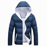 Oln Hommes Veste d'hiver Mode à capuche thermique Down Coton Parkas Homme Casual Sweats à capuche à capuche à capuche à vent de coupe 5x