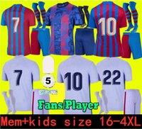 SIZE S- 4XL Camisetas de football MESSI Kun Aguero Barcelona soccer jerseys BARCA FC 21 22 ANSU FATI 2021 2022 GRIEZMANN F.DE JONG DEST PEDRI kit shirt men kids sets socks