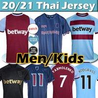 2021 غرب حديد بنطلون X Lingard Soccer Jerseys 1980 Ham Retro Jersey Lanzini Haller Antonio الأرز 125th الذكرى قميص كرة القدم الرجال + أطفال كيت التايلاندية