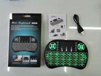 Mini I8 Беспроводная клавиатура Подсветка подсветки 2.4G Air Mouse Keyboard Remote Control TouchPad Аккумуляторная батарея для Android TV Box