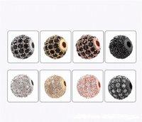 8mm azorite bead diy ornamento micro diamante conjunto de mão redonda grânulos elegantemente projetados ornamentos frisados à mão fino e barato artes gwf6099
