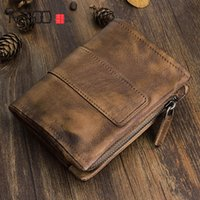 Couple AETOO Buckle Short Leather Of Original Retro HBP Layer Handmade Vertical Zipper Male Wallet Purse First Vintage Oqmei