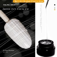 Nail Gel Art Stretch Brushed Polish Net Red Painted Potherapy Glue Silk Drawing Metallic Black White Edge TSLM1
