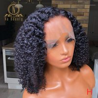 Afro Kinky Curly Transparent Lace Wigs Invisible 360 Frontal Human Hair For Black Women Pre Plucked Remy Nabeauty1