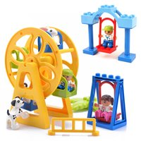 DIY Accessories Figures Animals Swing Ferris Wheel Building Blocks Kids Toys Gift Bricks Parts For Children Kids Gifts