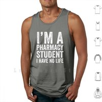 Im uma estudante de farmácia Eu não tenho tanques de vida colete sem mangas farmacêutico fofo engraçado citação faculdade