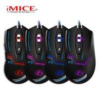 IMICE x8 유선 게임 전문 마우스 3200DPI USB 광학 6 버튼 PC 20pcs / lot 마우스 용 컴퓨터 게이머
