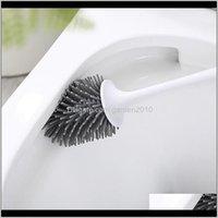 Fırçalar Tutucular zemin kapanmış veya duvar tuğla set ile taban tuvalet temizleme uzun TPR banyo fırçası WC aksesuarları için 7UUIJ ZVXCS