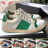 Luxus Designer Marke Herren Frauen Screener Leder Leder Sneaker Mode Casual Herren Kleid Schuhe Größe 35-44 Kostenloser DHL Versand