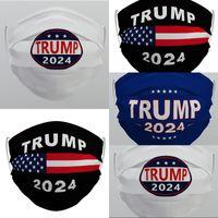 ABD hisse senedi DHL Trump 2024 Kullanımlık Yıkanabilir Yüz Maskesi Dokunmamış Kumaş Toz Geçirmez Pis geçirmez Nefes Maskeleri Toptan 1129 V2