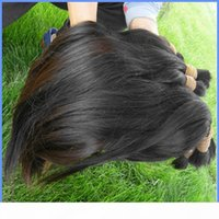 Unprocessed best human hair bulk for beauty hair salon natural color can bleach dye cuticle aligned hair from one donor 100g bundle