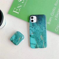 Cell Phone Cases For iphone 12 12Pro Max 11 11Pro X XR XS 7 8 Plus and Apple Airpods 1 2 Pro Earphone Case Marble Silicone Cover Set