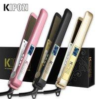 hair straightener brush Kiposi Hair Flat Iron Professional Titanium Stijltang Digital Lcd Kam Crunching Beauty Care