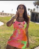 Ladies Summer Sexy Designer Dress Sleeveless Vest Miniskirt Fashion Party Street Nightclub