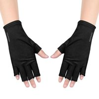 Cycling Gloves 1 Pair UV Protection Glove LED Lamp Nail Dryer Light Radiation Art Gel Anti Outdoor