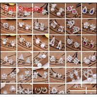 Stud Sell 45 Styles Creative Fashion Snowflake Beer Crystal Rhinestone Ear Studs Pearl Earrings Z7Yqk Xciam