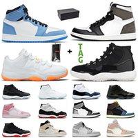 Mit Box Air Jordan Retro 1 Mocha Jordans Jumpman 11 Citrus Low Männer Frauen Basketball Schuhe Fearless 1s Mid University Blue Concord High 45 25th 11s Space Jam UNC Turnschuhe