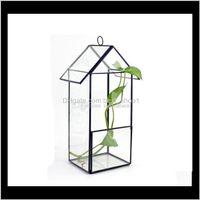 المزارعون الأواني لوازم الباحة، الحديقة الرئيسية حديقة إسقاط التسليم 2021 شنقا منزل شكل الزجاج تيران عصاري مصنع الهواء الإبداعي microla