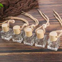 Auto Parfüm Flasche Auto Anhänger Parfüm Ornament Lufterfrischer für ätherische Öle Diffusor Duft Leere Glasflasche 10ml DWB6311