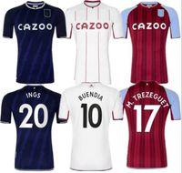 Aston Away Soccer Jerseys Villa Hem 202122 Samatta Targett Grealish Wesley Douglas Luiz McGim El Men Kids Kit Fotbollskjortor Red Jersey