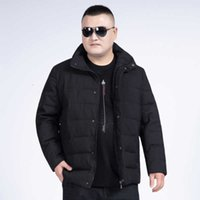 Men's Down & Parkas Plus Size 8XL 7XL 6XL Autumn Winter Jackets Collar Thickened Overcoat For Male Cotton Clothes Jacket Clothing Garment