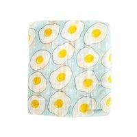 Одеяла Swaddling Muslin 100% хлопчатобумажные доля для рождения Обратное одеяло 120 * 120см Дети Milestone Lashghg