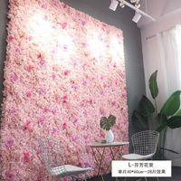 Sztuczny Kwiat Ściana 60 * 40 CM Rose Hortensja Kwiat Tło Ślub Kwiaty Home Party Wesele Dekoracje Akcesoria 341 S2