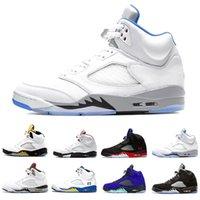 nike air jordan 5ما الأحذية 5 الرجال كرة السلة الأزرق المعدنية الشبح الشراع الإبحار الغرف فرط رويال 5 ثانية البديل العنب أعلى 3 رجل المدربين الرياضة أحذية رياضية