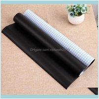 Decoração da parede Home Gardenwall adesivos Quadro 200 * 60 cm preto auto-adesivo adesivo impermeável removível removível cartaz com 5