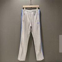 Pantolon FW Muhteşem İğneler Erkek Kadın 1: 1 Yüksek Kaliteli Kelebek Işlemeli Streetwear Sweatpants