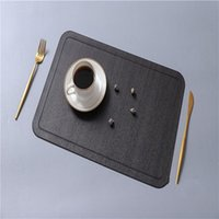 Table Mat PU Leather Pad For Dining Imitation Wood Grain Placemat Heat Insulation Non Slip Modern Placemats Bowl Cup Coasters LLE6600