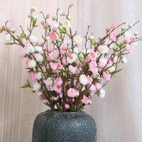 Decorative Flowers & Wreaths Silk Gypsophila Artificial For Decoration Home Plastic Stem Bride Wedding Bouquet Mariage Cherry Blossom Fake F