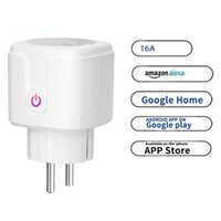 Smart Power Plugs WiFi Plug 16A EU Socket Tuya Life APP Work With Alexa Google Home Assistant Voice Control Monitor Timing
