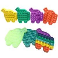 Brinquedo de dedo Simples Poppers Empurre Bubble Fidget Brinquedos Autismo Especial Necessidades Stress Bolas Colorido Silicone Descompactação Brinquedos H480GS0 VENDA Por Atacado