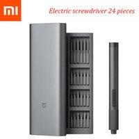 Xiaomi Mi مفك مجموعة أدوات الطاقة الكهربائية مجموعات أدوات كهربائية الدقة كيت 2 والعتاد عزم الدوران 400 برغي 1 type-c شحن المغناطيسي الألومنيوم حالة مربع 24 S2