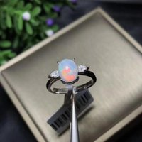 Cluster Rings Shop Products, Recommended By The Owner Natural Opal Woman Change Fire Color Mysterious 925 Silver Adjustable Size