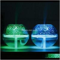 Artículos de la novedad Décor de entrega de jardín Entrega 2021 USB Lámpara de cristal Proyector 500ml Humidificador de aire Desktop Difusor Difusor ultrasónico LED LED