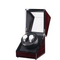 Caso di avvolgitore doppio orologio in fibra di carbonio in legno lucido in legno lucido in legno lucido custodia per l'orologio per orologio